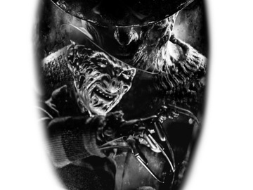 Tattoo design: Freddy Krueger