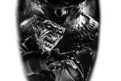 Tattoo design: Freddy Krueger