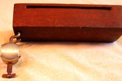 Selling with online payment: 1920-40s LUDWIG wood block hoop mount w/ standard wood block