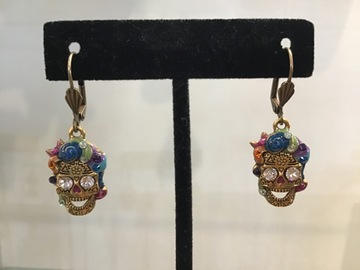 Selling with online payment: Sugar Skull Earrings