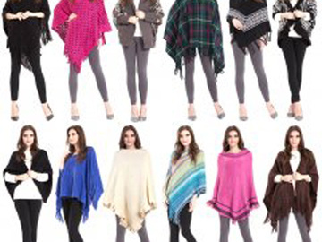 Liquidation/Wholesale Lot: 12 New Ladies Vests , Ponchos , Ruanas , jackets , Outerwear