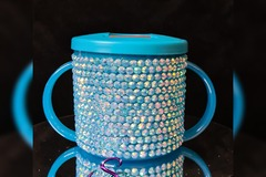 For Sale: Teal blinged baby's first sippy cup / beaker 190ml
