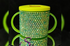 For Sale: Emerald blinged baby's first sippy cup / beaker 190ml