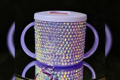 For Sale: Purple blinged baby's first sippy cup / beaker 190ml