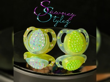 For Sale: 2x Blinged Baby Soothers 0-6months