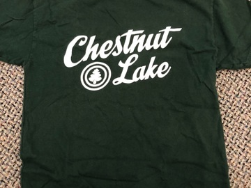 Selling multiple of the same items: Green Chestnut Lake T-shirt (older logo)