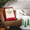 Selling: Be Merry Gift Box - 4 Set of Coasters and Holiday Blend Coffee