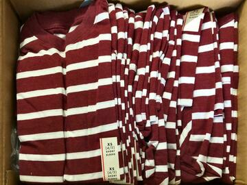 Buy Now: Boys XS Maroon Striped Shirt Lot