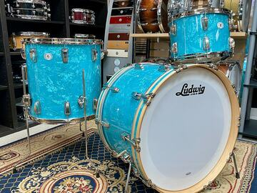 Selling with online payment: Ludwig Classic Maple 3-Piece Fab Shell Pack - Glacier Blue Pearl
