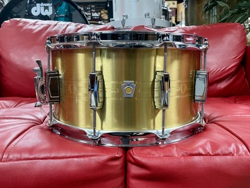 """Selling with online payment: Ludwig Heirloom Series Brass Snare Drum - 7"""" x 14"""" LBR0714"""