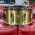 "Selling with online payment: Ludwig Heirloom Series Brass Snare Drum - 7"" x 14"" LBR0714"
