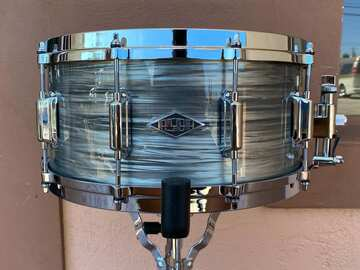 """Selling with online payment: ASBA Revelation Snare Drum in Fade to Gris 6.5""""x14"""""""