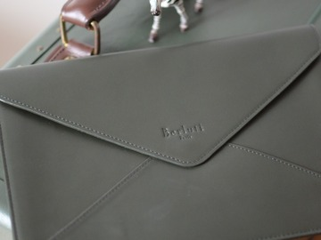Online payment: Berluti leather pouch