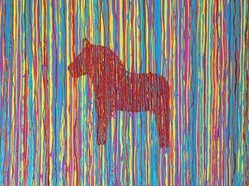 Sell Artworks: Sverigehästen colourful chaos