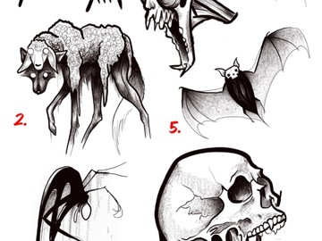 Tattoo design: 6. Screaming Skull