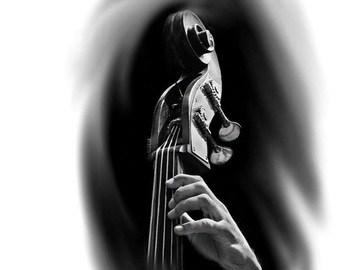 Tattoo design: Fretted Double Bass
