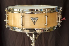 Selling with online payment: Famous Drum Company single ply maple snare drum prototype #1