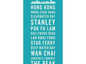 : HONG KONG BUS SCROLL CANVAS - WITH SKYLINE
