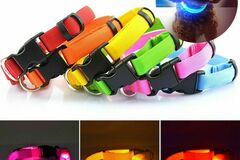 Liquidation/Wholesale Lot: Brite Doggie – Battery Operated LED Dog Collars – Assorted Colors