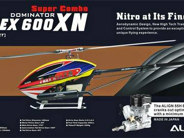 Selling: Brand New - Align T-REX 600XN RC Nitro Helicopter