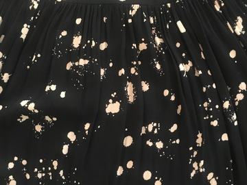 Selling: Black & Paint Pokadot Midi Dress Small