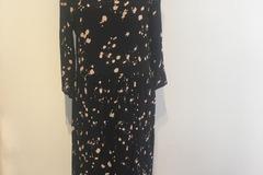 Selling: Black & Paint Pokadot Midi Dress Small