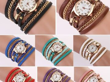 Sell: (36) women's statement watches with gold accents
