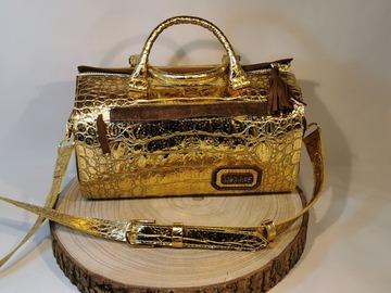 Vente avec paiement en direct: sac croco or