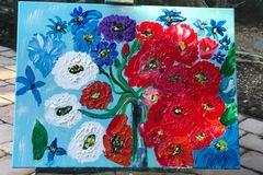 Selling with online payment: Vase of Flowers Painting