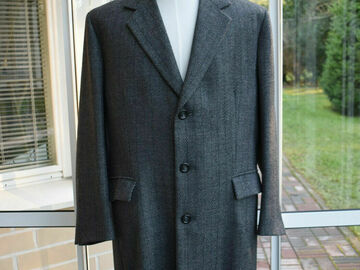 Online payment: Sundstedt, bespoke chesterfield coat, size 48UK, made in Finland