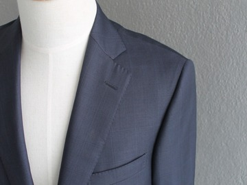 Online payment: Pal Zileri, blue jacket, windowpane, size 40R, full canvas