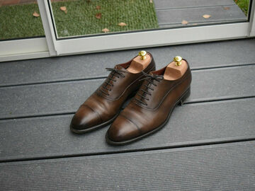 Online payment: Fratelli Borgioli, brown oxford shoes, size 8, RRP 590 e, patina