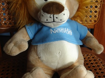 Vente: Beau lion en peluche, 30 cm - Etat neuf