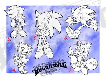 Tattoo design: 6 - Sonic the Hedgehog (Sprinting)