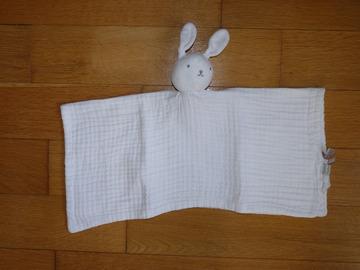 Vente: Doudou lapin Blanc DPAM bébé TBE