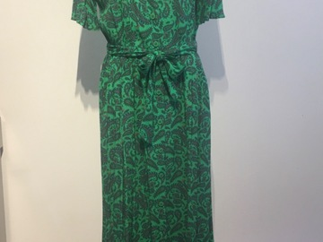 Selling: Paisley dress, jade green, size Small