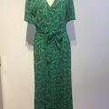 Selling: Paisley dress, jade green, size Small