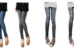 Venta: (50) Skinny Wholesale Denim-Like Ladies Jeans Leggings Pants