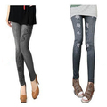 Sell: (50) Skinny Wholesale Denim-Like Ladies Jeans Leggings Pants