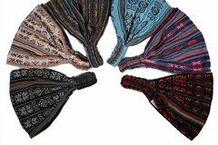 Selling with online payment: Bundle of 6 Boho Woven  Headbands for Women or Men