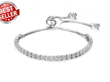Liquidation/Wholesale Lot: 50 pieces Swarovski Elements Tennis Slider Bracelet