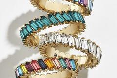 Liquidation/Wholesale Lot: Boho Rainbow Crystal Rings (Mixed Colors)