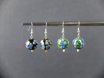 Selling with online payment: Cloisonné enamel earrings