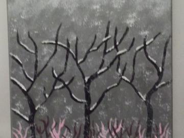 Vente au détail: Tableau paysage d'hiver