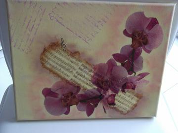 Vente au détail: Toile orchidée