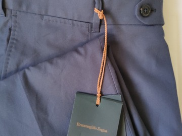 Selling with online payment: NEW!! Ermenegildo Zegna Couture Pleated Cotton Trousers EU54/UK38