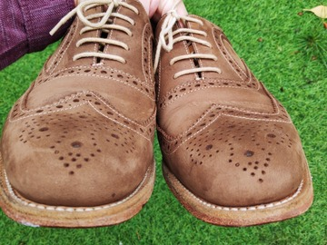 Selling with online payment: Loake Brown Suede Leather Shoes UK8/EU42