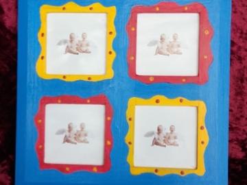 Vente au détail: Cadre 4 photos coloré
