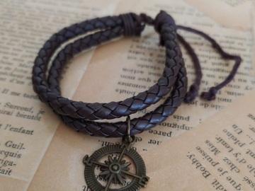 Vente au détail: Bracelet boussole homme