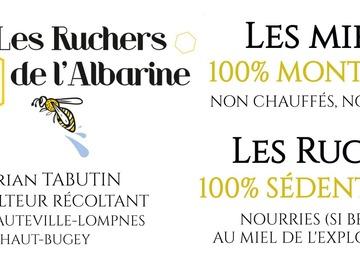 Vente avec paiement en direct: Miels du Bugey à partir de 15€/kg